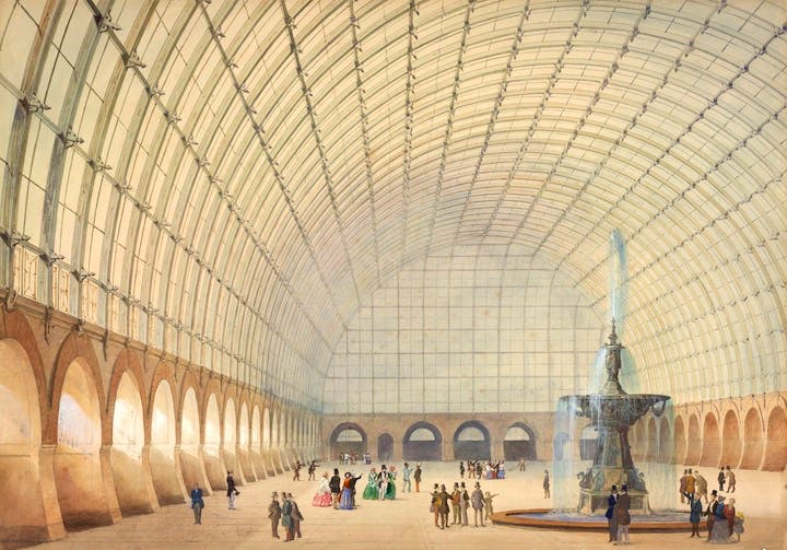 Design for an exercise and industrial exhibition hall in Vienna (1853), Paul Wilhelm Eduard Sprenger. Albertina, Wien