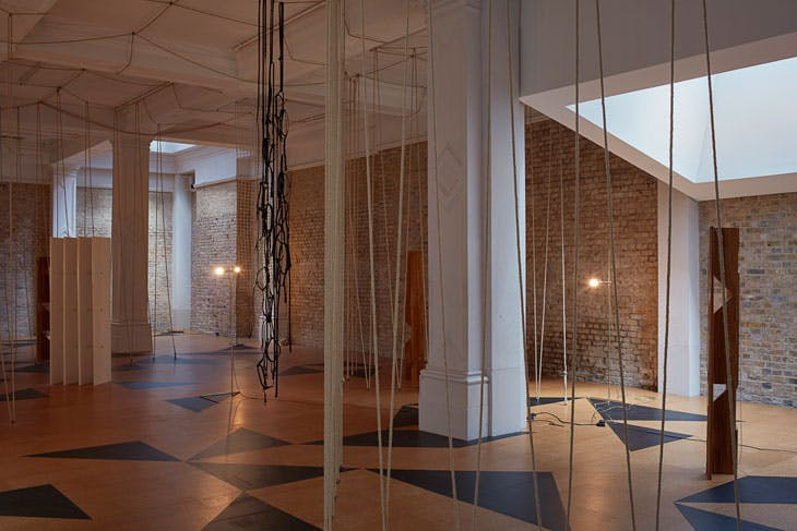 'Leonor Antunes: the frisson of the togetherness', installation view at the Whitechapel Gallery, London. Photo: Nick Ash