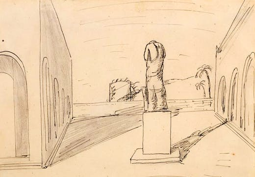 Autumn Arrival, (n.d.), Giorgio de Chirico, Estorick Collection