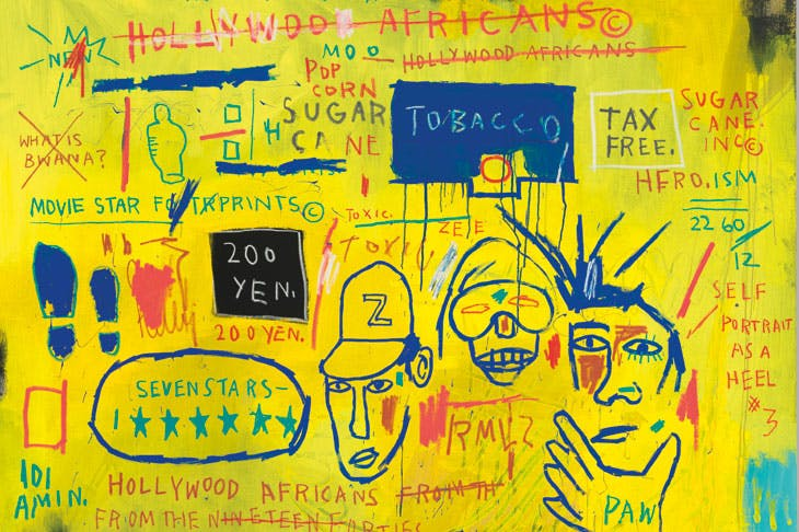 'Hollywood Africans', detail, 1983, Jean-Michel Basquiat. Whitney Museum of American Art