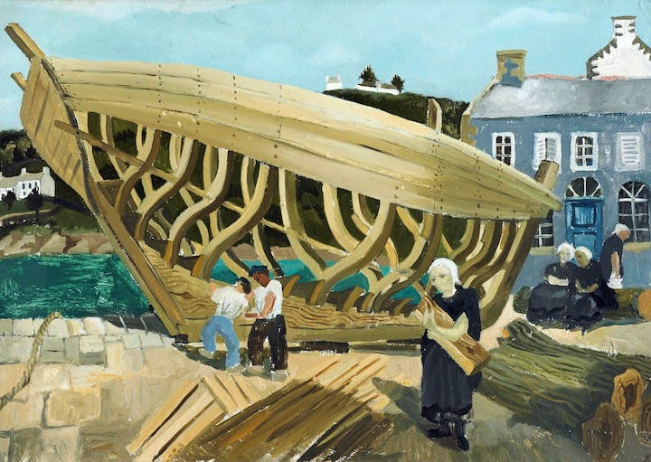 Building the Boat, Tréboul (1930), Christopher Wood. Courtesy of Kettle's Yard, University of Cambridge