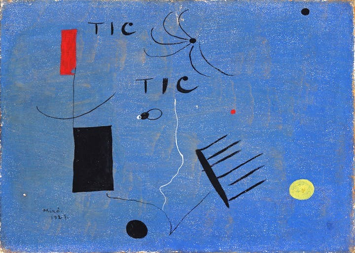 Tic Tic (1927), Joan Miro. Courtesy of Kettle's Yard, University of Cambridge