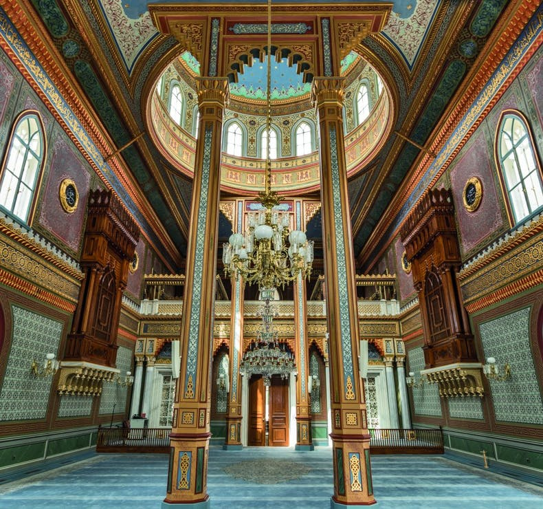 The interior of the Yildiz Hamidiye Mosque in Istanbul, commissioned by Abdulhamid II and completed in 1886, photo: Salvator Barki/Getty Images