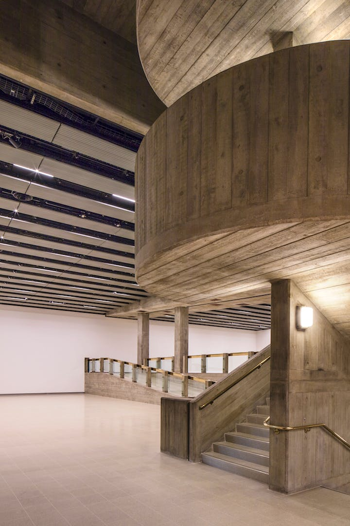 Interior of the Hayward Gallery, 2017. Photo: Morley Von Sternberg