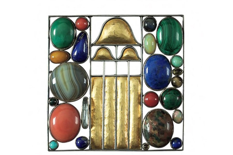 Brooch, 1907, designed by Josef Hoffmann. Courtesy Neue Galerie, New York