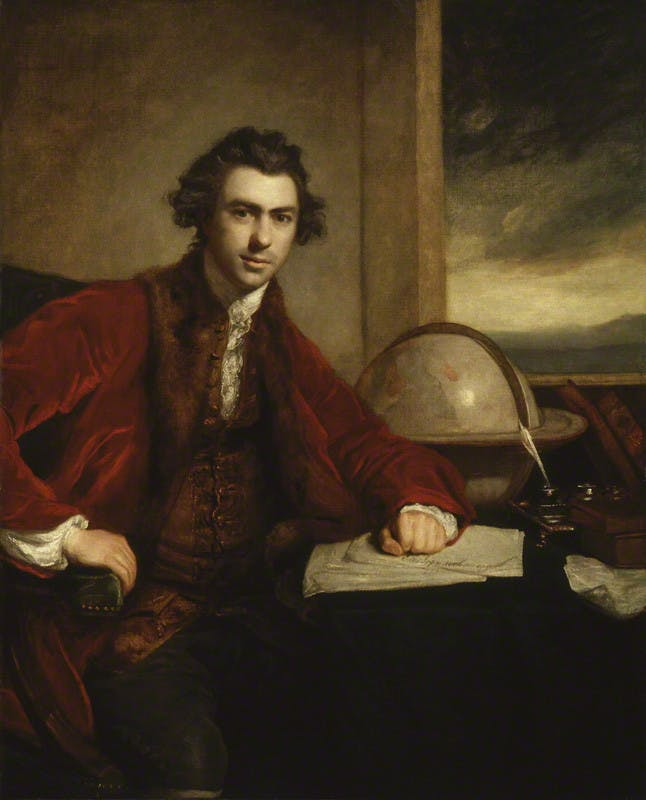 Sir Joseph Banks, (detail) (1771–73), Sir Joshua Reynolds, National Portrait Gallery, London
