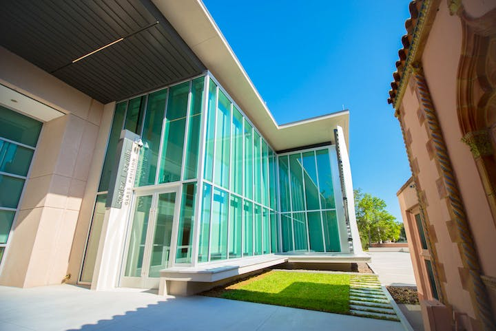 The new Kotler-Coville Glass Pavilion, 2017. Courtesy of The Ringling Museum of Art
