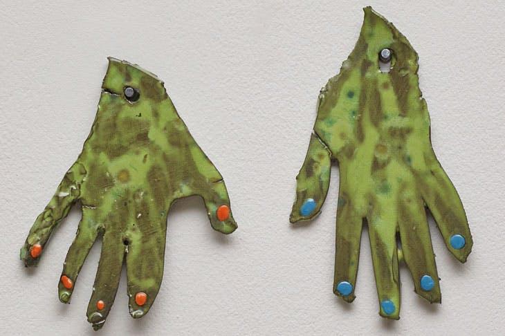 My Hands (2017), Polly Apfelbaum.