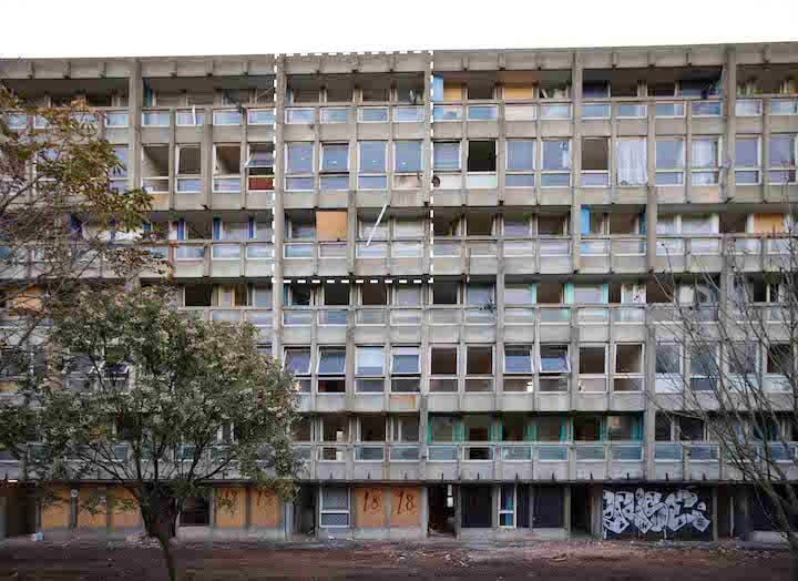 Robin Hood Gardens, completed in 1972, designed by Alison and Peter Smithson. Courtesy of the Victoria & Albert Museum, London