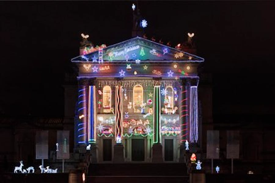 Let there be lights! The Christmas illuminations at Tate Britain