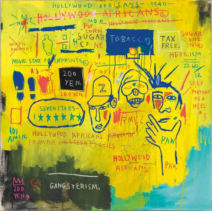 'Hollywood Africans', 1983, Jean-Michel Basquiat. Whitney Museum of American Art