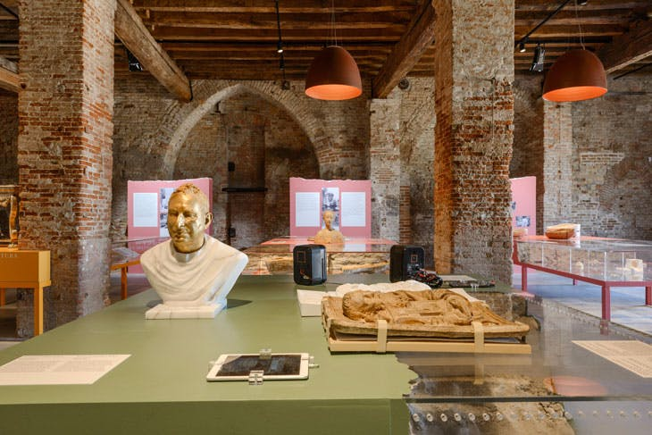 Installation view of 'A World of Fragile Parts', Venice Architecture Biennale 2016