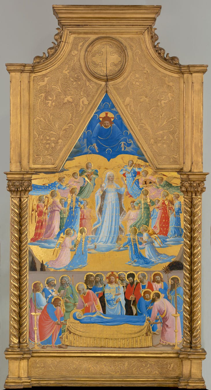 The Dormition and Assumption of the Virgin (c. 1400–55), Fra Angelico. Isabella Stewart Gardner Museum, Boston