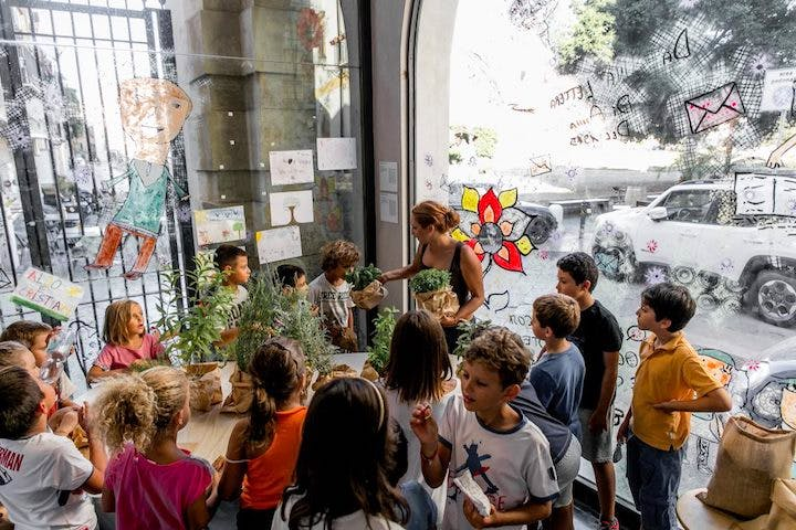 Palermo Fatimide Garden Education Workshop. Courtesy of Manifesta 12; Photo: Paolo Castronovo