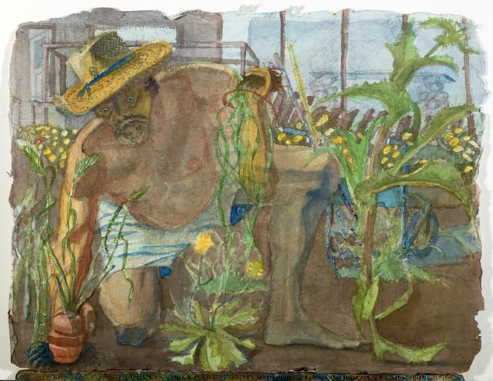 Ed in the Garden (early 1990s), Eduardo Carrillo. Courtesy of Pasadena Museum of California Art