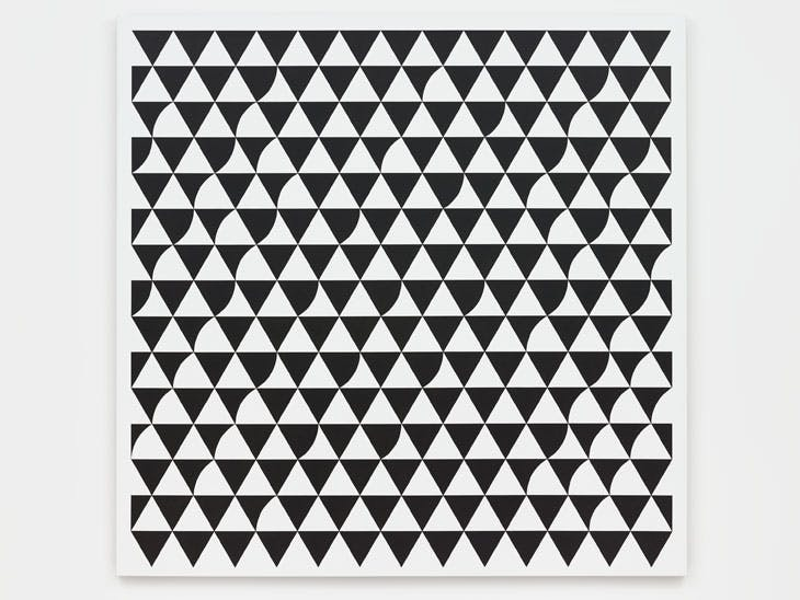 Rustle 6 (2015), Bridget Riley.