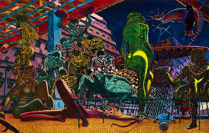 Las Tropicanas (1972–73), Eduardo Carrillo. Courtesy of Crocker Art Museum