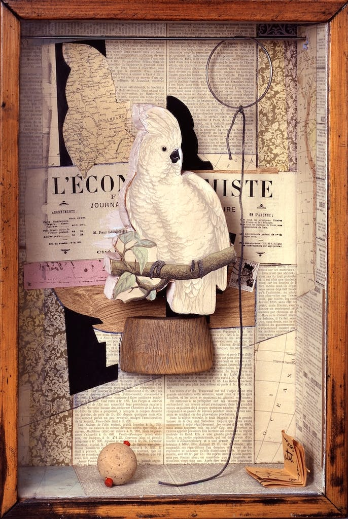 A Parrot for Juan Gris (1953–53/57), Joseph Cornell. © The Joseph and Robert Cornell Memorial Foundation/Licensed by VAGA, New York, NY