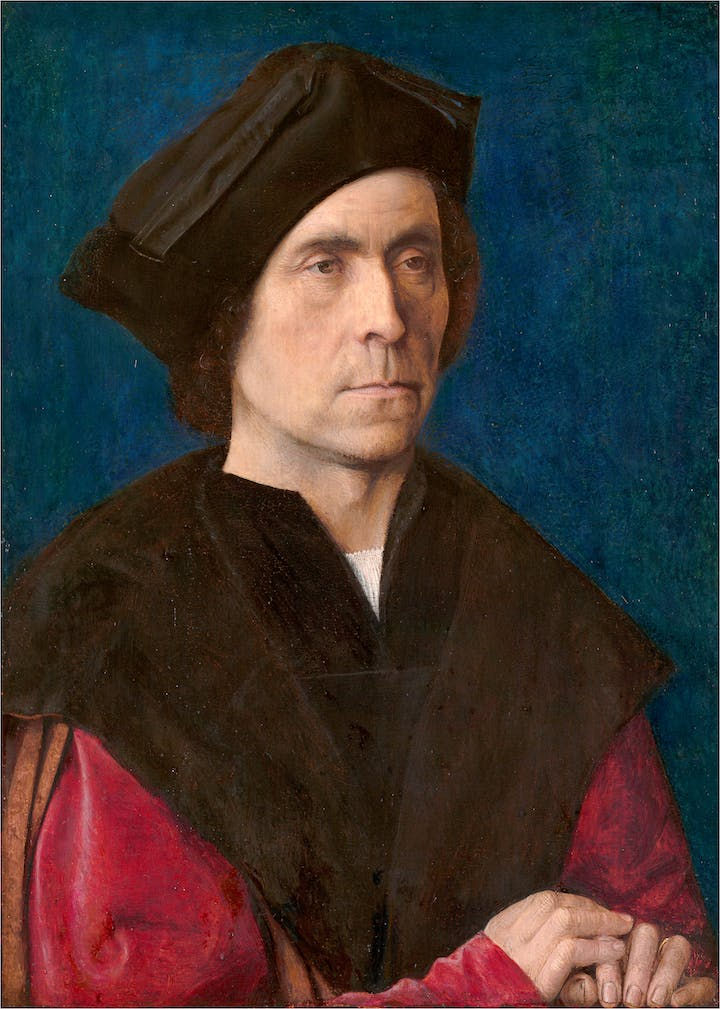 Portrait of a Man (c. 1510), Michel Sittow. Mauritshuis, The Hague. Photo by Margareta Svensson