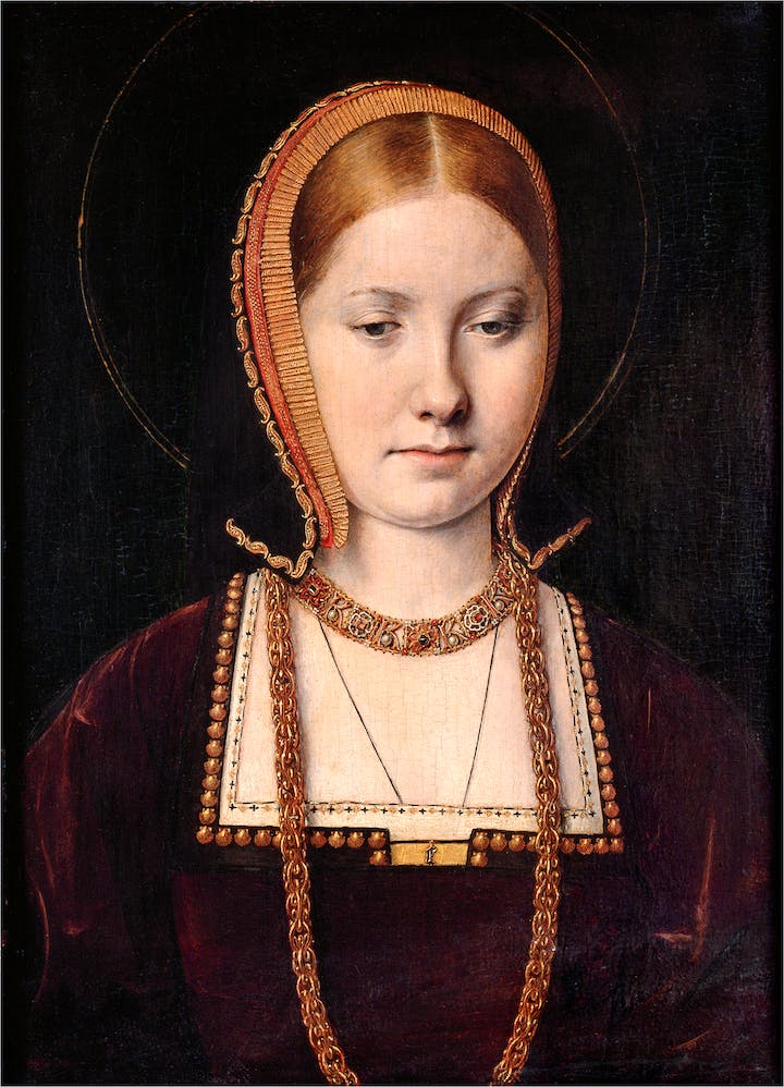 Mary Rose Tudor (1496–1533), Sister of Henry VIII of England (c. 1514), Michel Sittow. Courtesy of Kunsthistorisches Museum Vienna