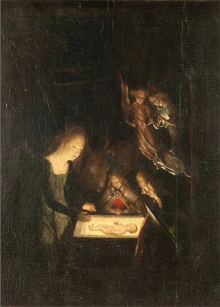 The Nativity at Night (early 16th century), attributed to Michel Sittow. © National Trust