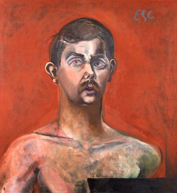 Self-Portrait (1960), Eduardo Carrillo. Courtesy of Pasadena Museum of California Art