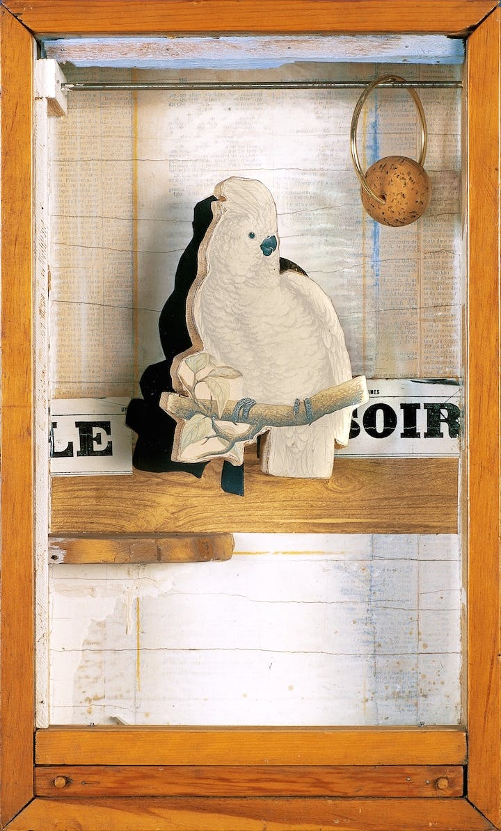 Juan Gris Cockatoo No. 4 (ca. 1953–54), Joseph Cornell. © The Joseph and Robert Cornell Memorial Foundation/Licensed by VAGA, New York, NY