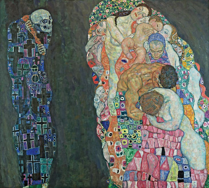 Death and Life (1910/11, reworked 1915/16), Gustav Klimt. © Leopold Museum, Vienna. Photo: Leopold Museum, Vienna
