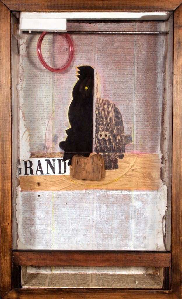 Untitled (Juan Gris Series, Black Cockatoo Silhouette) (ca. 1954–65), Joseph Cornell. © The Joseph and Robert Cornell Memorial Foundation/Licensed by VAGA, New York, NY