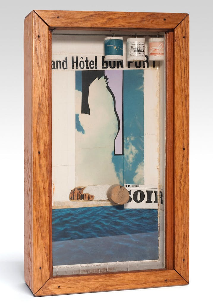 Grand Hotel Bon Port (late 1950s), Joseph Cornell. © The Joseph and Robert Cornell Memorial Foundation/Licensed by VAGA, New York, NY