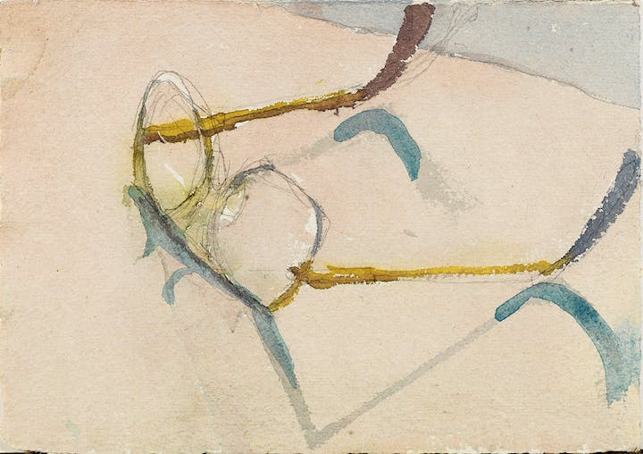 Ed's Glasses (date unknown), Eduardo Carrillo. Courtesy of Pasadena Museum of California Art