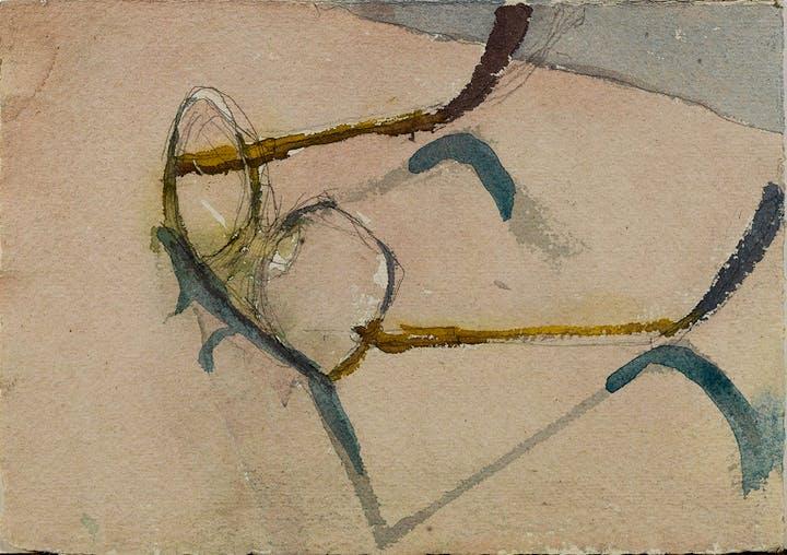 Ed's Glasses (date unknown), Eduardo Carrillo. Courtesy of Pasadena Museum of California Art