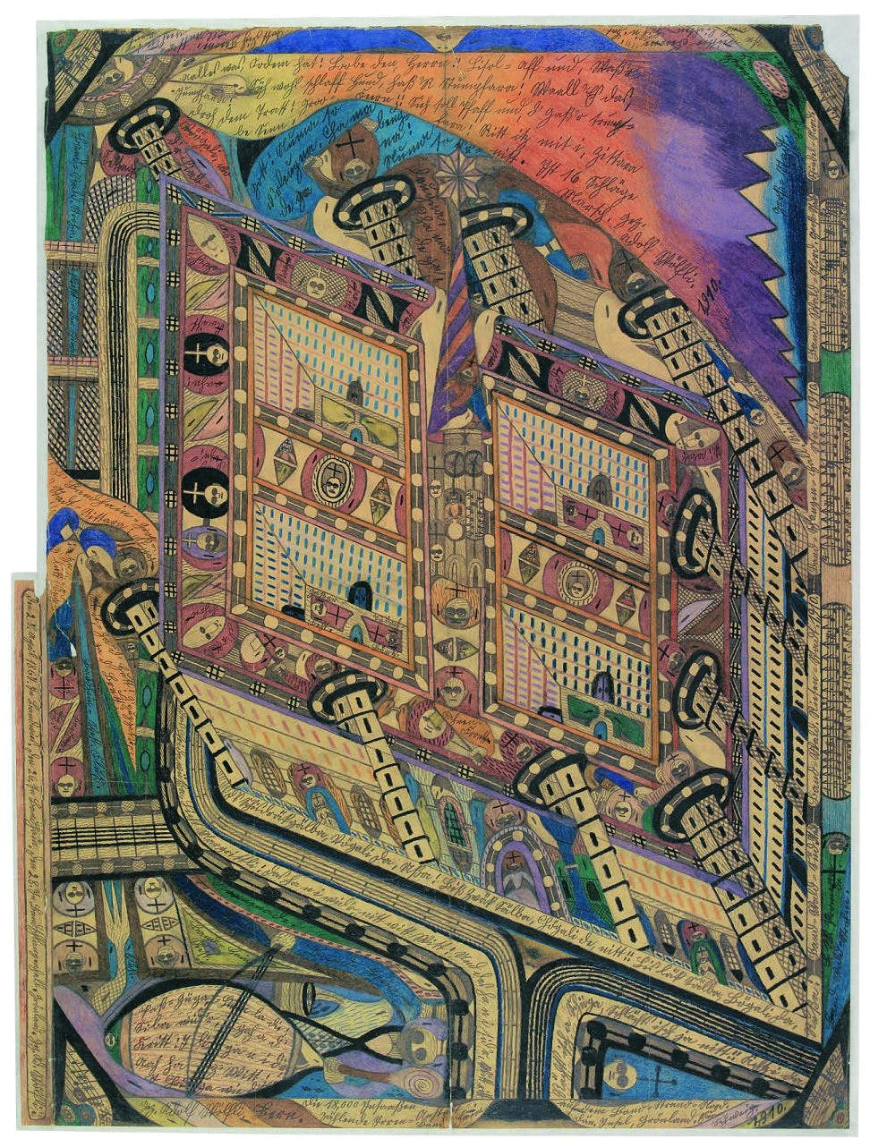 Mental Asylum Band-Copse, (1910), Adolf Wölfli, Prague City Gallery