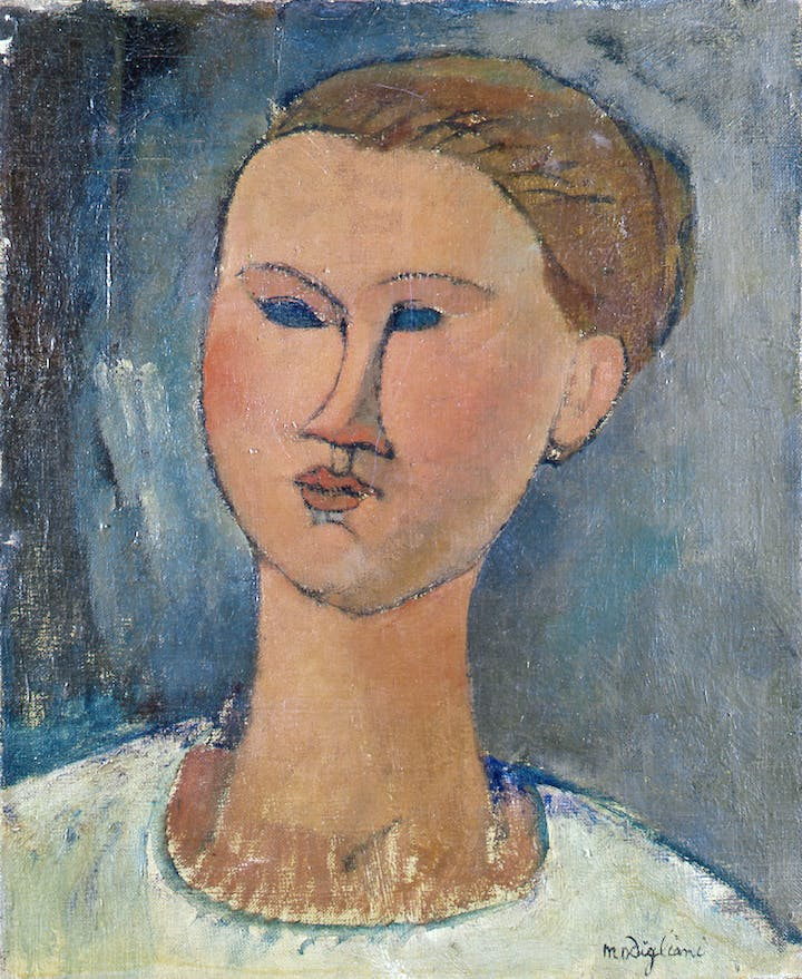 Head of a Young Woman (1915), Amedeo Modigliani. Courtesy: Pinacoteca di Brera, Milan