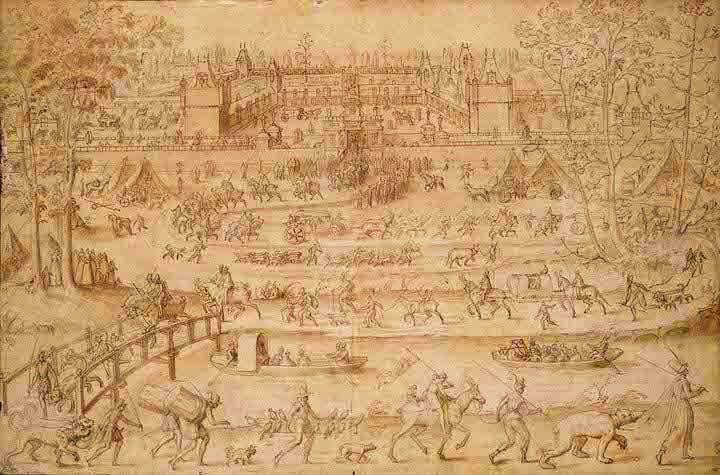 Le château d'Anet (1565–1574), Antoine Caron. Courtesy Louvre, Paris