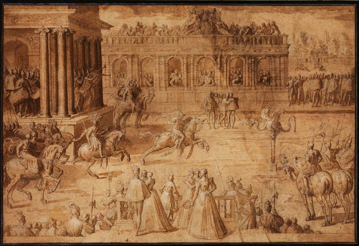 Game of Quintain (1575–80), Antoine Caron. Courtesy of The Courtauld Gallery, London