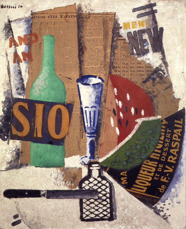 Watermelon and Liqueurs (1914), Ardengo Soffici. Courtesy: Pinacoteca di Brera, Milan