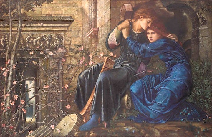 Love among the ruins (1870–73), Edward Coley Burne-Jones. Christie's London (£14.8m)