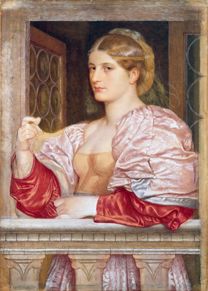 A Venetian Courtesan (1873–74), Frederic William Burton. Photo © National Gallery of Ireland
