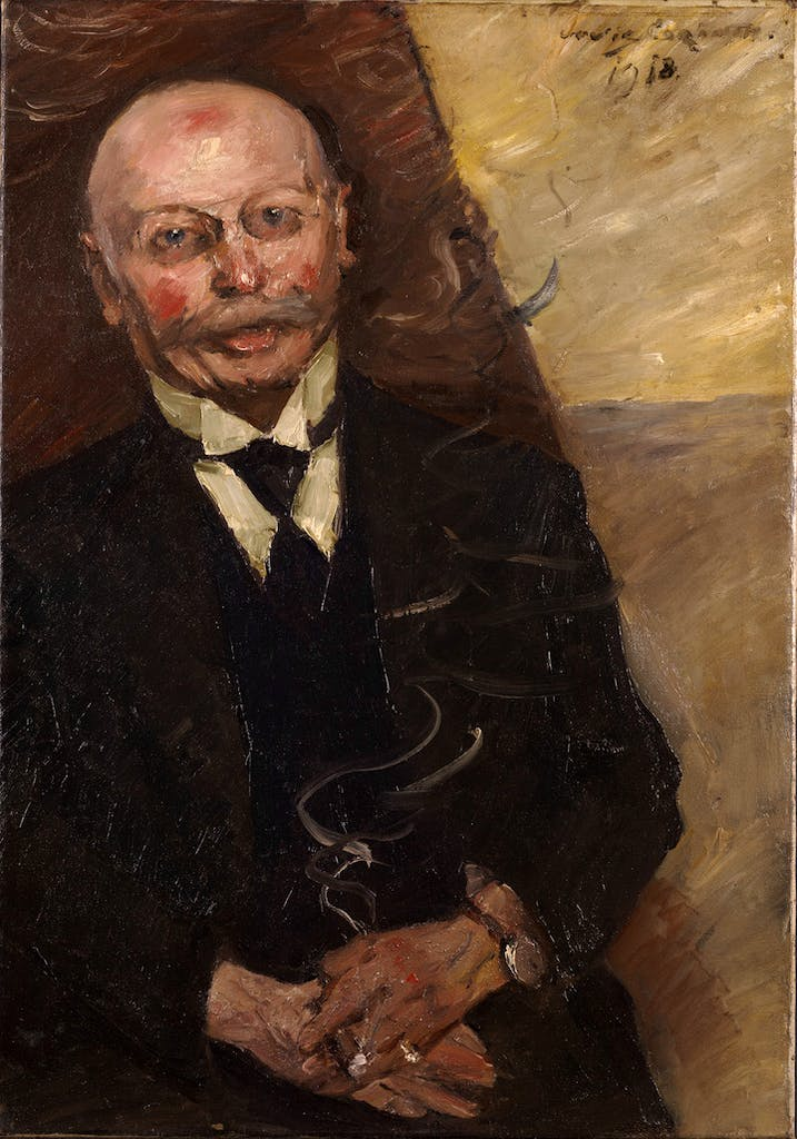 Portrait of the Art Dealer Heinrich Thannhauser (1918), Lovis Corinth. Courtesy of Kimbell Art Museum