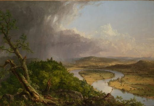 View from Mount Holyoke, Northampton, Massachusetts, after a Thunderstorm–The Oxbow, (1836), Thomas Cole, Metropolitan Museum of Art