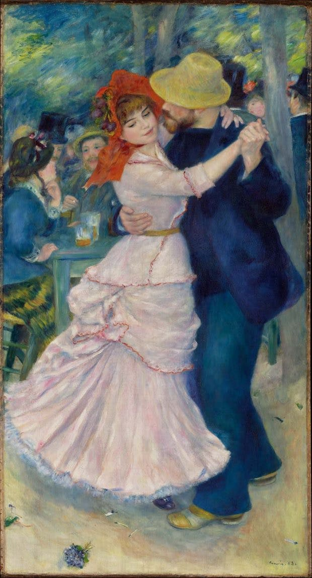Dance at Bougival, (1883), Pierre-August Renoir, Museum of Fine Arts, Boston