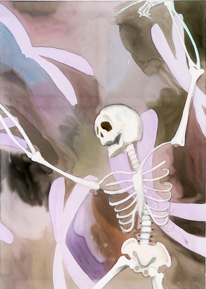 Drunk Skeleton (2016), Paul Heyer. Photo: Jason Mandella