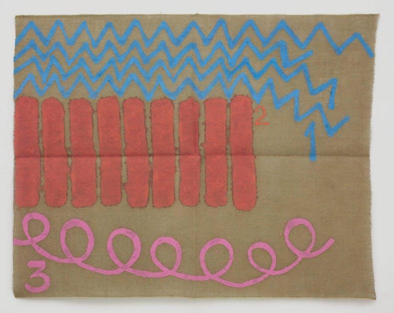 Tre colori (1998), Giorgio Griffa