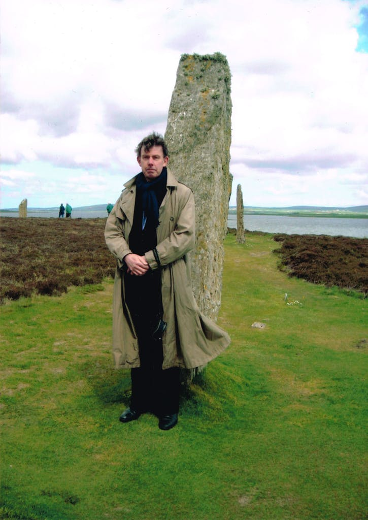 Gavin Stamp at the Ring of Brodgar, Orkney.