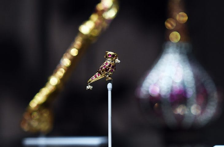 An object from the Al Thani collection on display at the Metropolitan Museum of Art in New York in 2014. Photograph: Jewel Samad/AFP/Getty Images