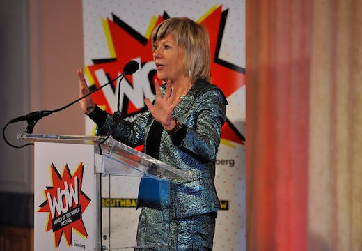 Jude Kelly, artistic director of the Southbank Centre and founder of Women of the World Festival (WOW), at the US launch of WOW on 19 March 2015 in Washington, DC.