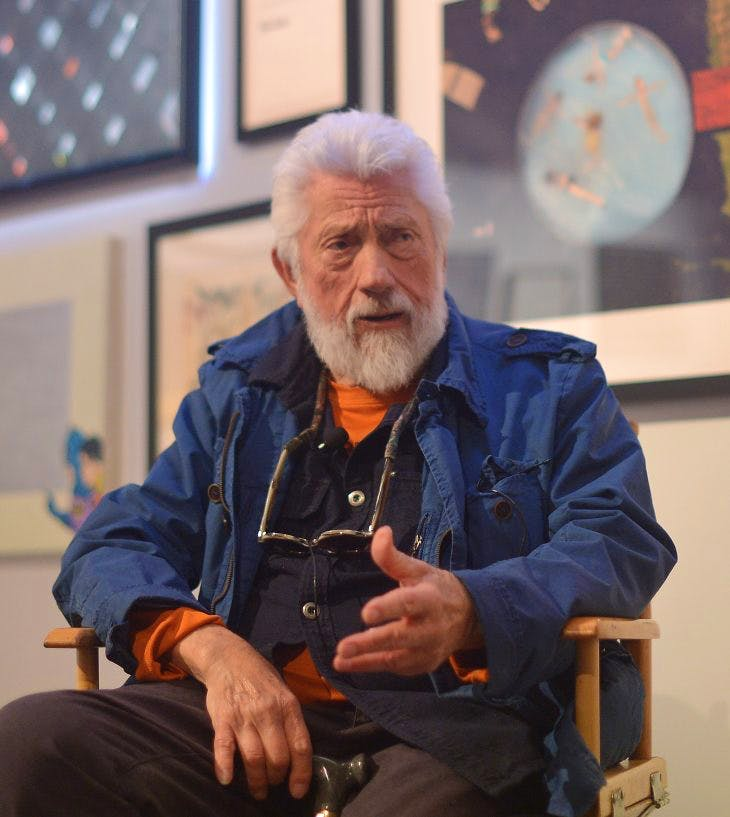 Ed Moses in Los Angeles in 2014, Photo by Charley Gallay/Getty Images for Art of Elysium