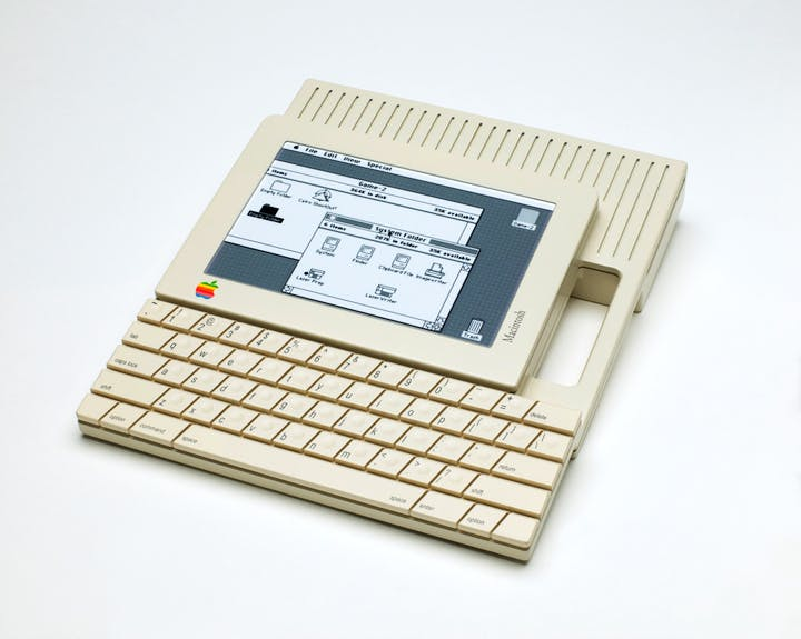 Prototype for Apple Macintosh touch-screen tablet (1984), Hartmut Esslinger. Courtesy of San Francisco Museum of Modern Art, photo: Katherine Du Tiel