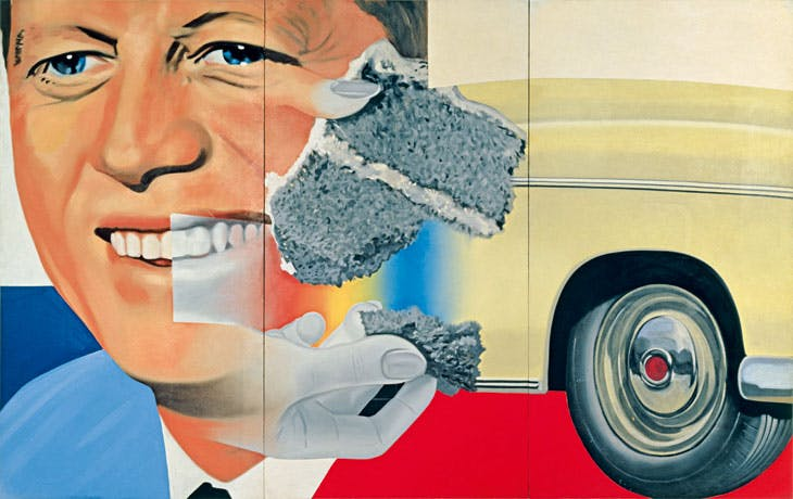 President Elect (1960–61/1964), James Rosenquist. Centre Georges Pompidou, Musée National d'Art Moderne/Centre de Création Industrielle, Paris